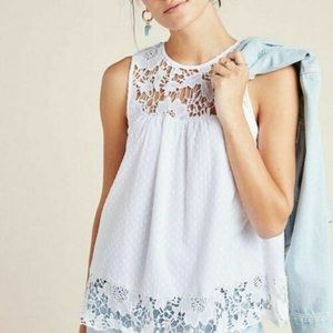 Anthropologie Aeliana Lace Blouse Top Crochet New